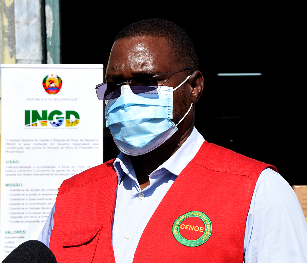 César Tembe, director de Prevenção e Mitigação do INGD